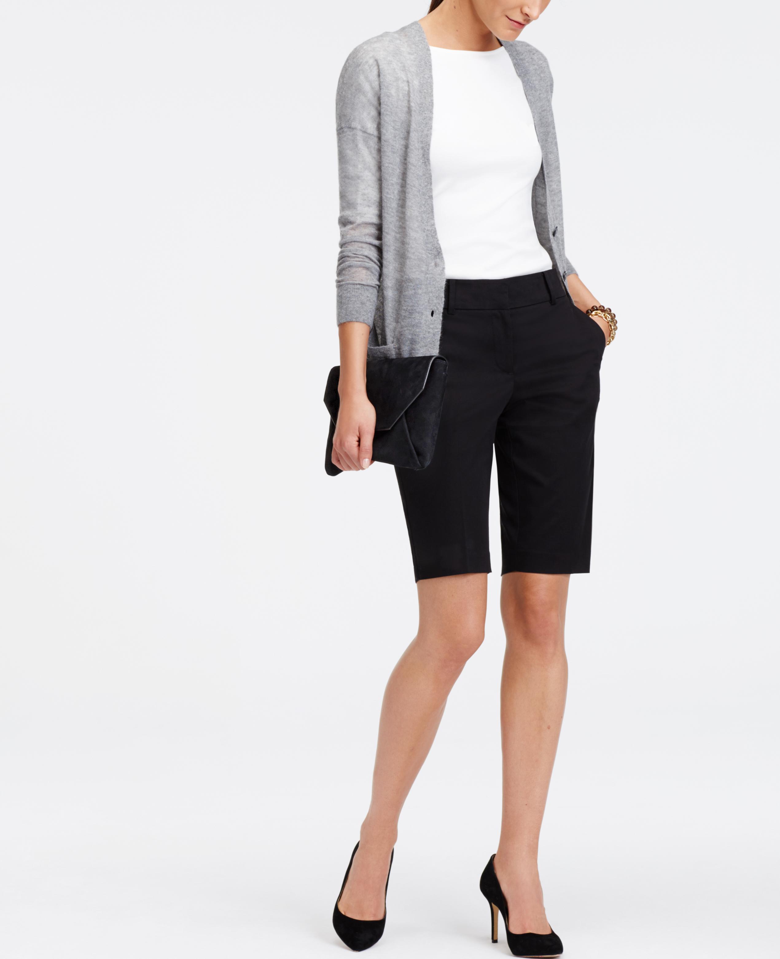 curvy walking shorts in black lyst