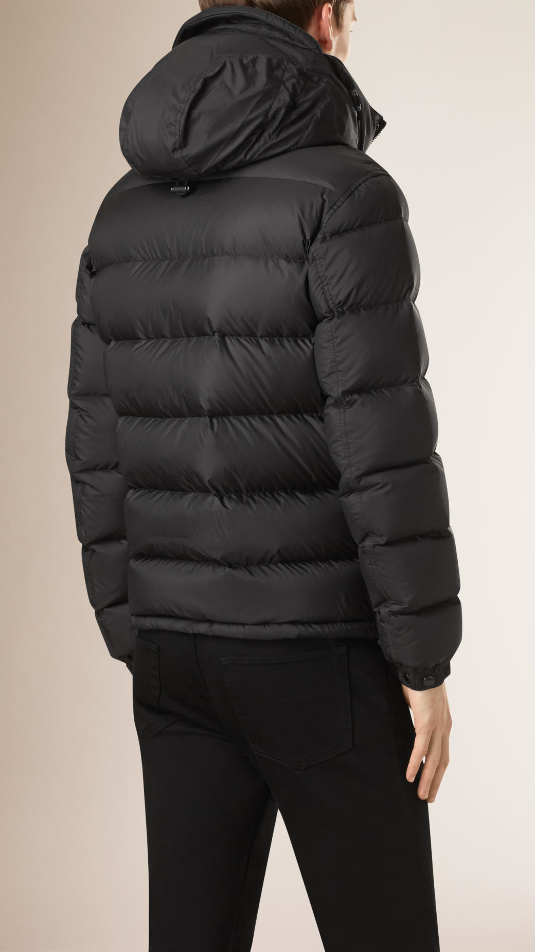 Burberry Lightweight Down-filled Puffer Jacket in Black for Men | Lyst