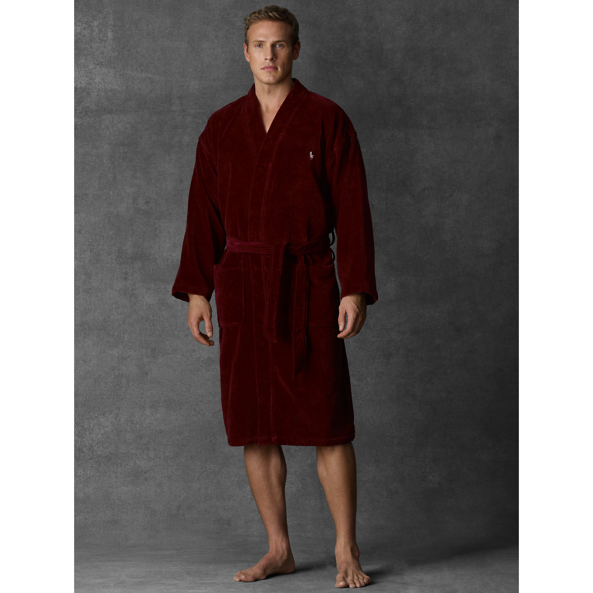 polo ralph lauren terry kimono robe in purple for men lyst. Black Bedroom Furniture Sets. Home Design Ideas