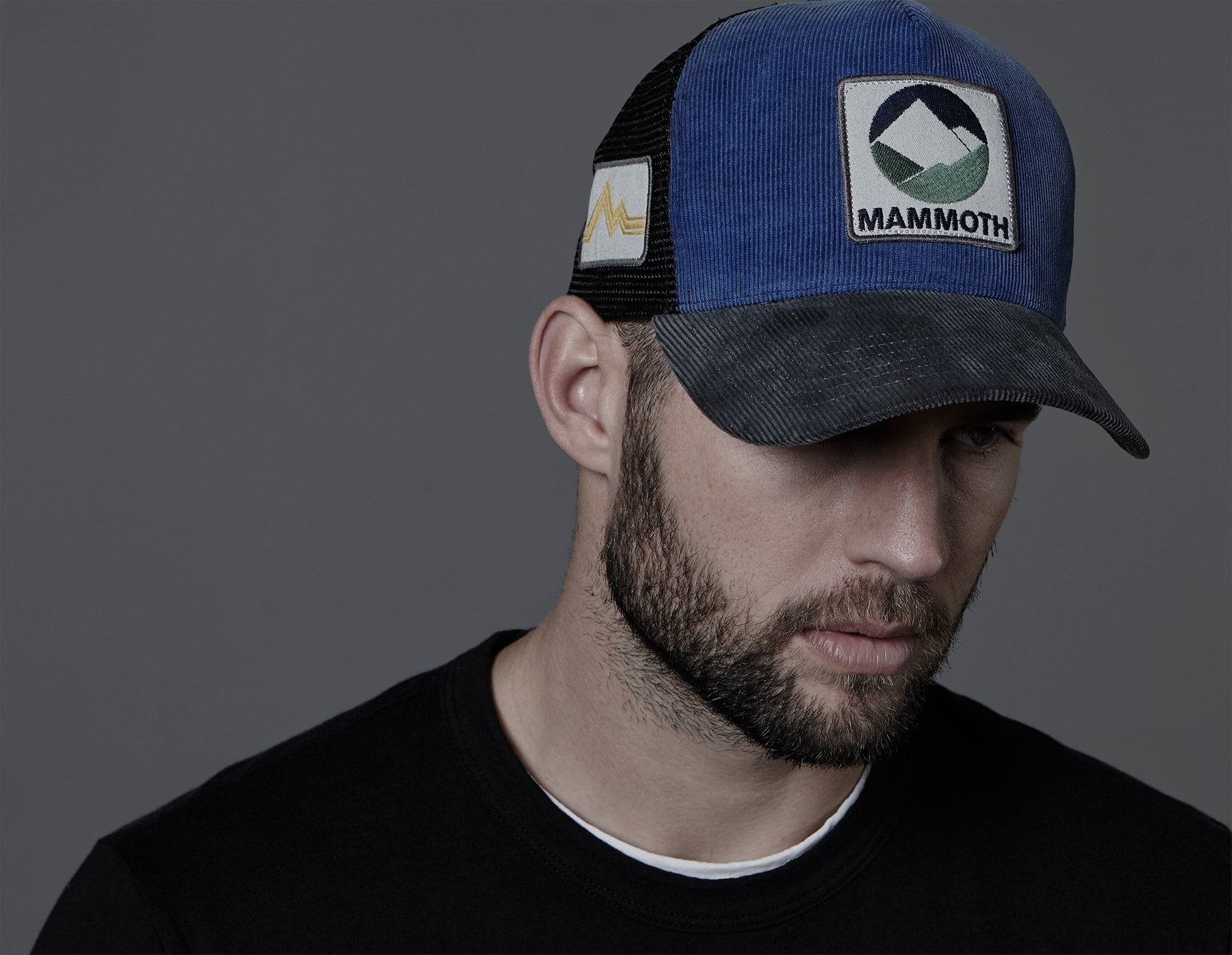 717553b09 James Perse Blue Mammoth Cord Trucker Hat for men