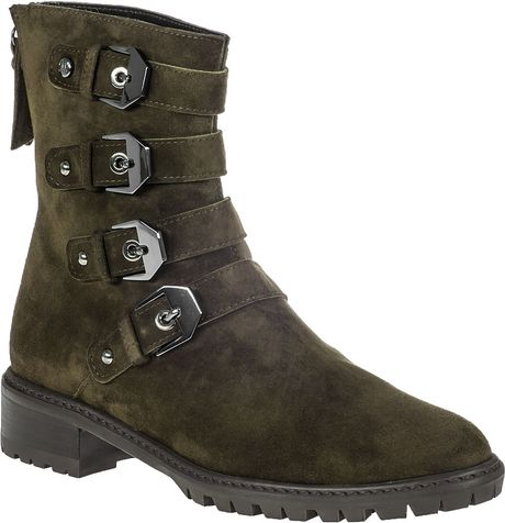 stuart weitzman jitterbug boot olive suede in green olive