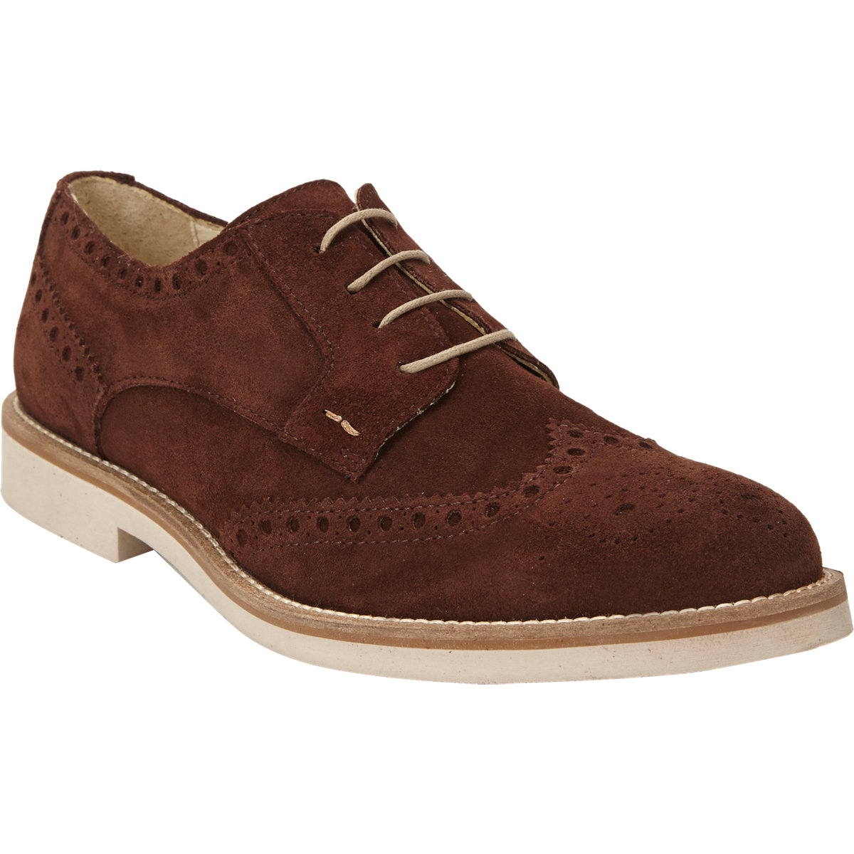 Mens Leather & Denim Wingtip Bluchers Barneys New York Free Shipping Eastbay Outlet Online Shop MUiq3DZPEJ
