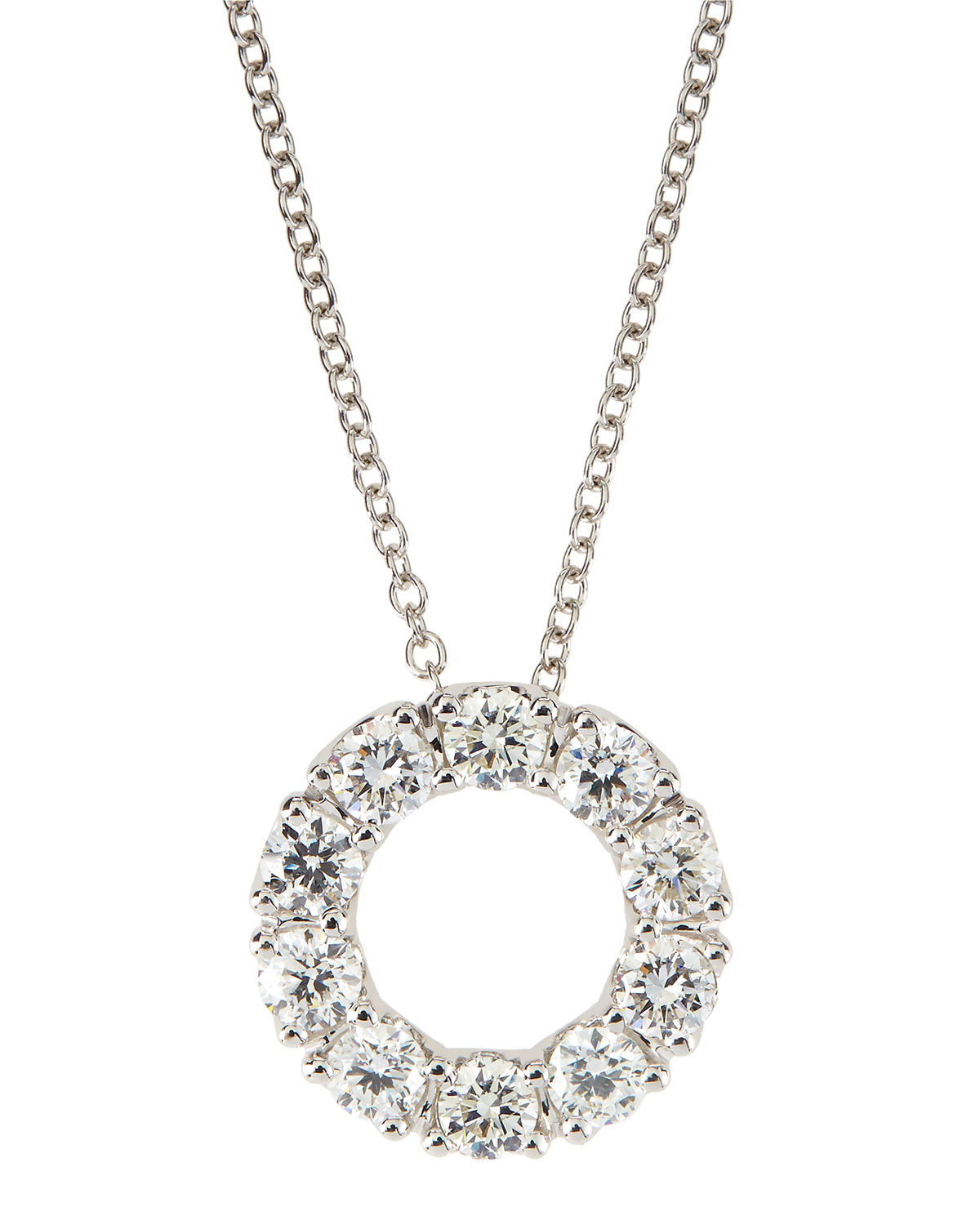 Lyst roberto coin 18k white gold necklace with 17mm diamond circle gallery aloadofball Choice Image