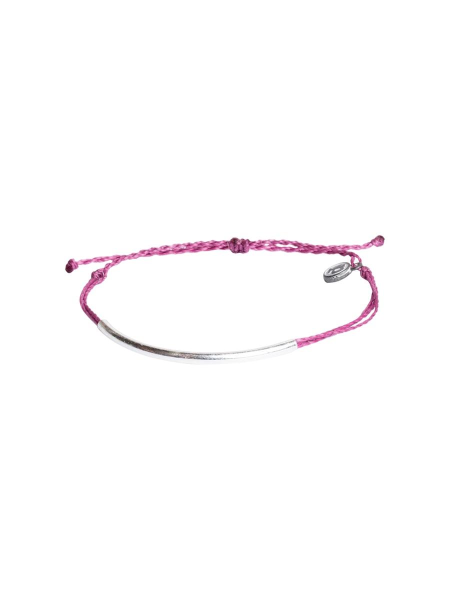 pura vida silver bar bracelet in silver fuchsia lyst