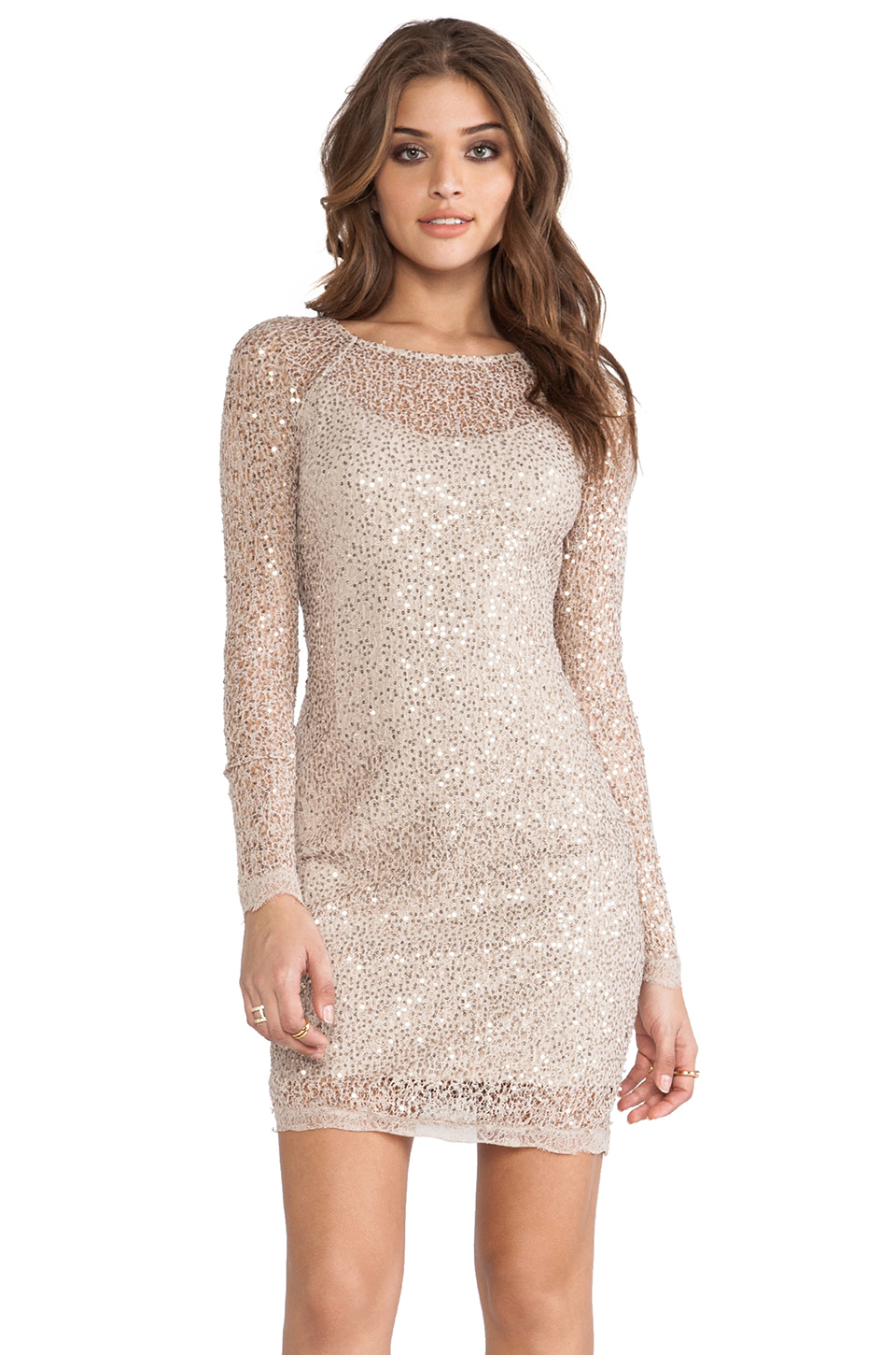 Scalloped Sequin Dress
