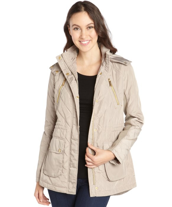 Lyst - Bcbgeneration Camel Lightweight Quilted Anorak in Brown : quilted anorak - Adamdwight.com