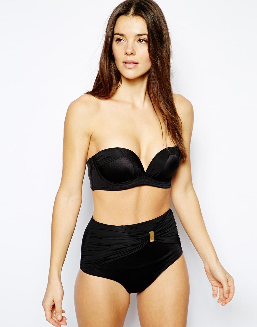 Gossard Sienna Strapless Bikini Top in Black | Lyst
