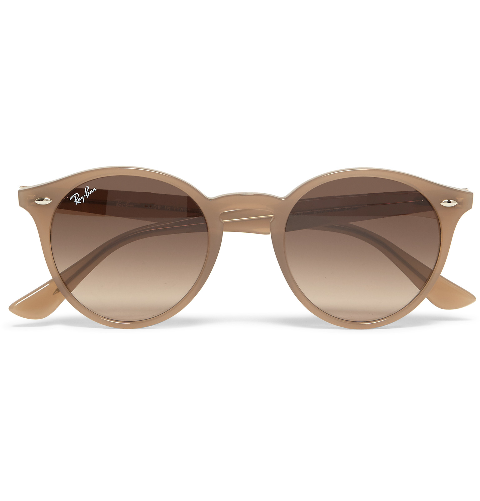 90070f80e8fe5 Ray-Ban Round-frame Acetate Sunglasses in Natural for Men - Lyst