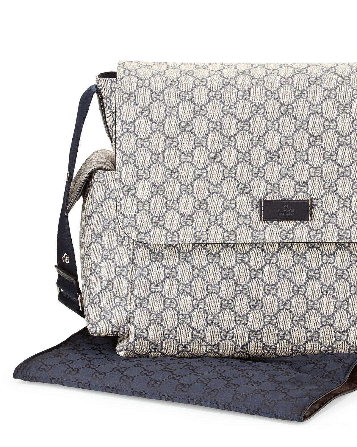 185e8887c215e2 Gucci Ssima Faux-leather Diaper Bag W/ Changing Pad in Gray for Men ...