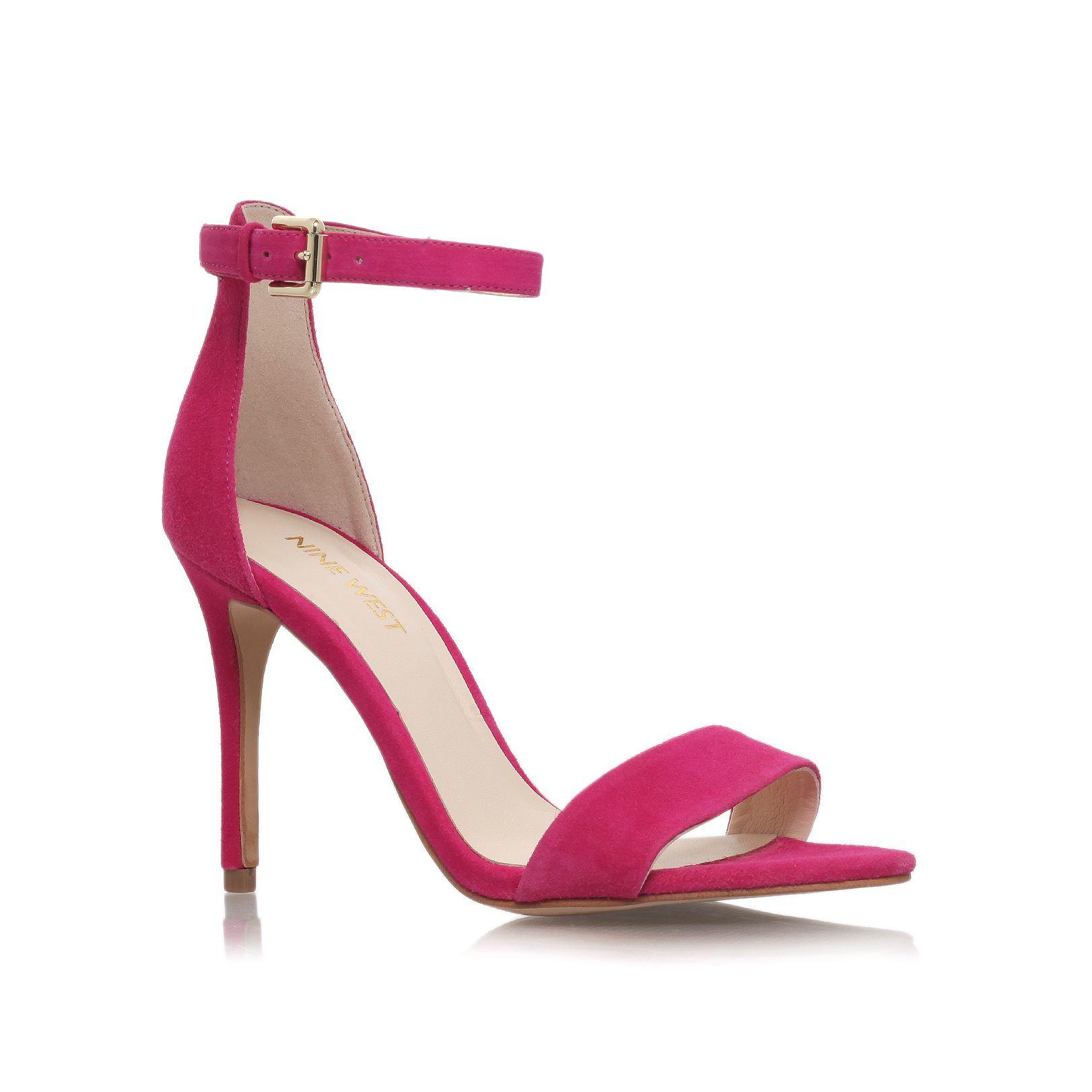 nine west mana high heel sandals in pink lyst. Black Bedroom Furniture Sets. Home Design Ideas