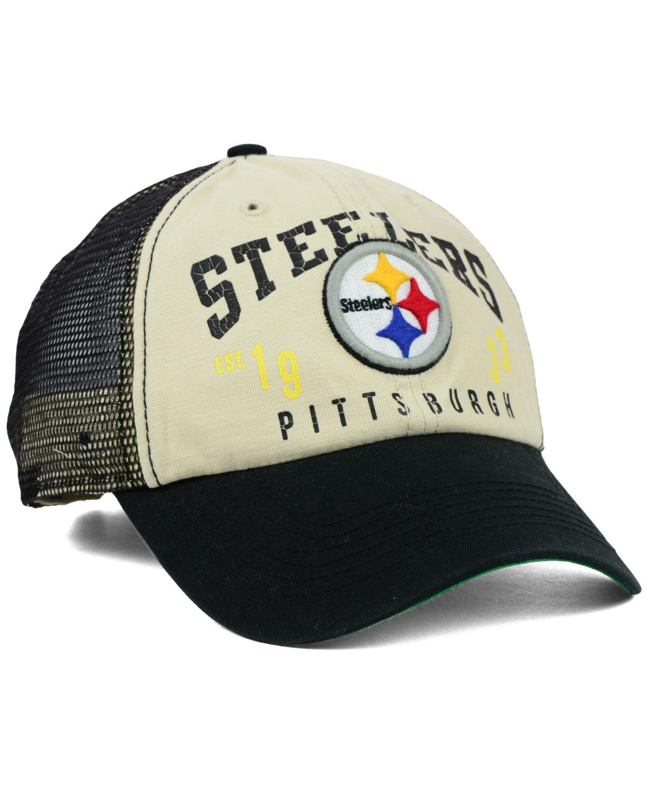 b21c14376389b Lyst - 47 Brand Pittsburgh Steelers Underwood Clean Up Cap in Blue ...