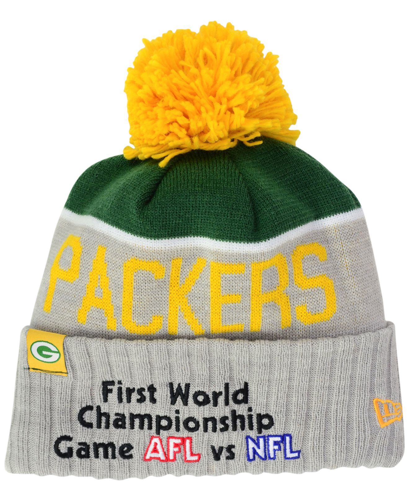 ef5241c30 ... clearance lyst ktz green bay packers super bowl sport knit hat in gray  for men c981c