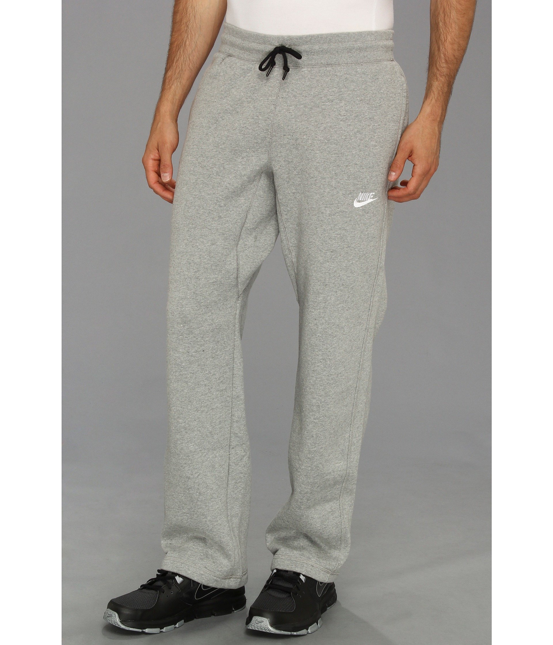 001c623df0de9 Nike Ace Open-hem Fleece Pants in Gray for Men - Lyst