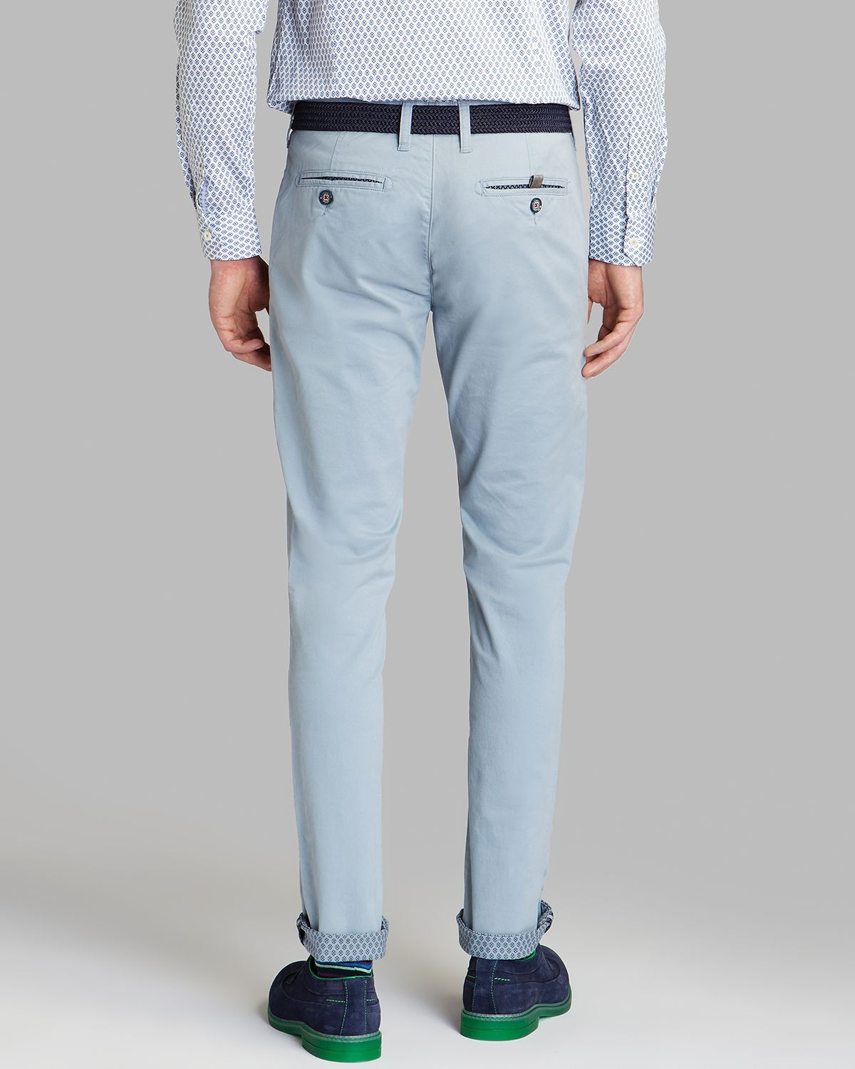 8fa578157 Lyst - Ted Baker Mordord Slim Fit Chino Pants in Blue for Men