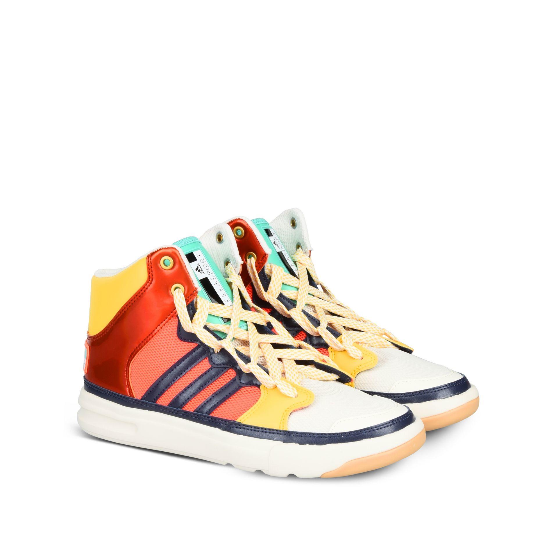 Ganz und zu Extrem Lyst - Adidas By Stella Mccartney Irana Striped Faux-Leather Sneakers #EA_21