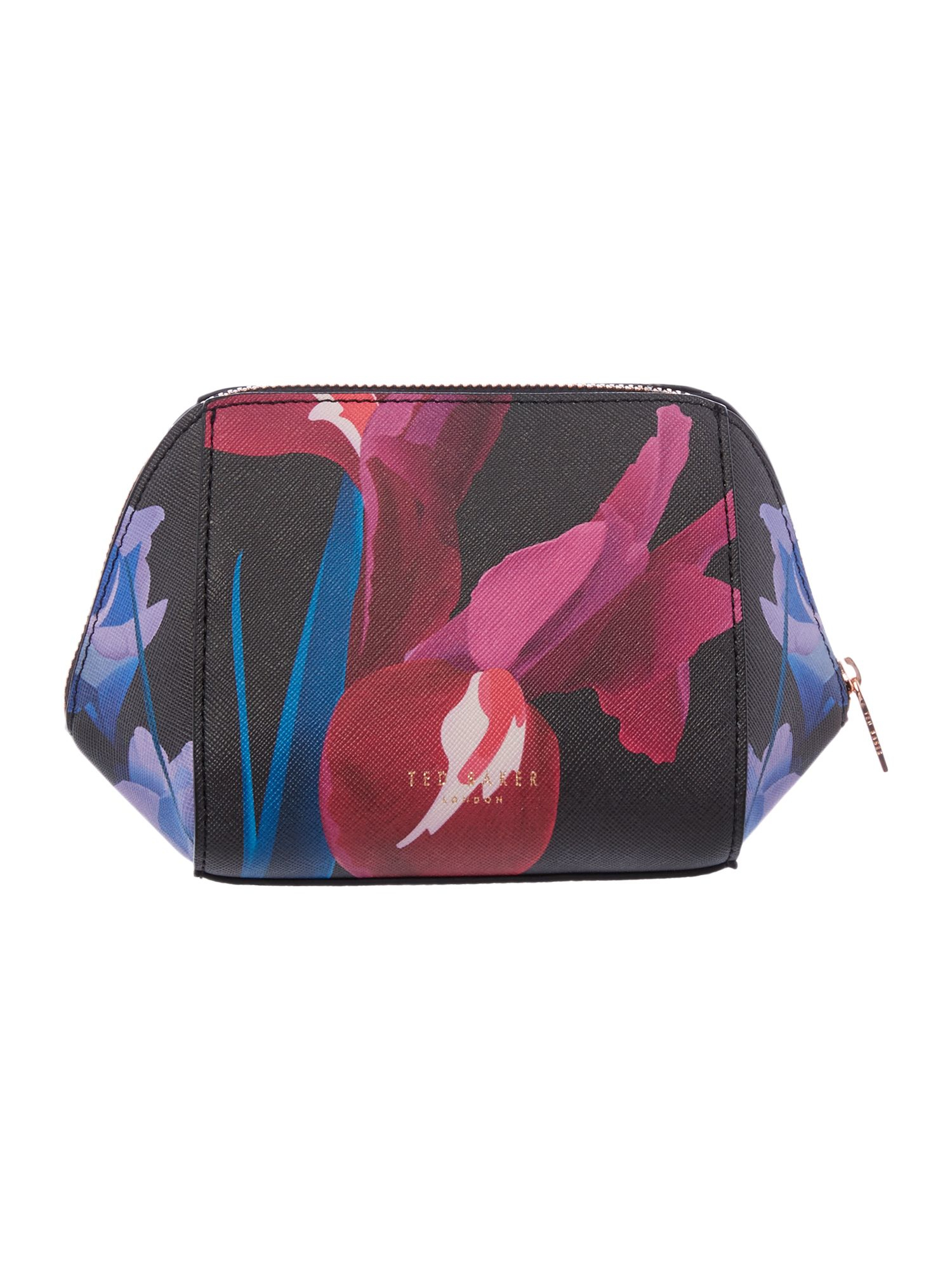 Lyst - Ted Baker Floree Black Floral Small Bow Cosmetic Bag In Black