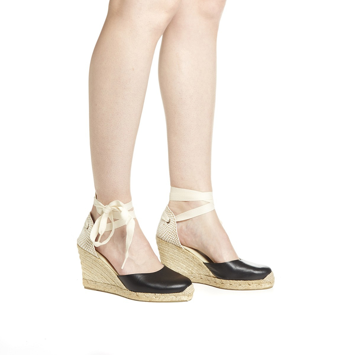 8f308d9785a Women's Black Tall Leather Wedge