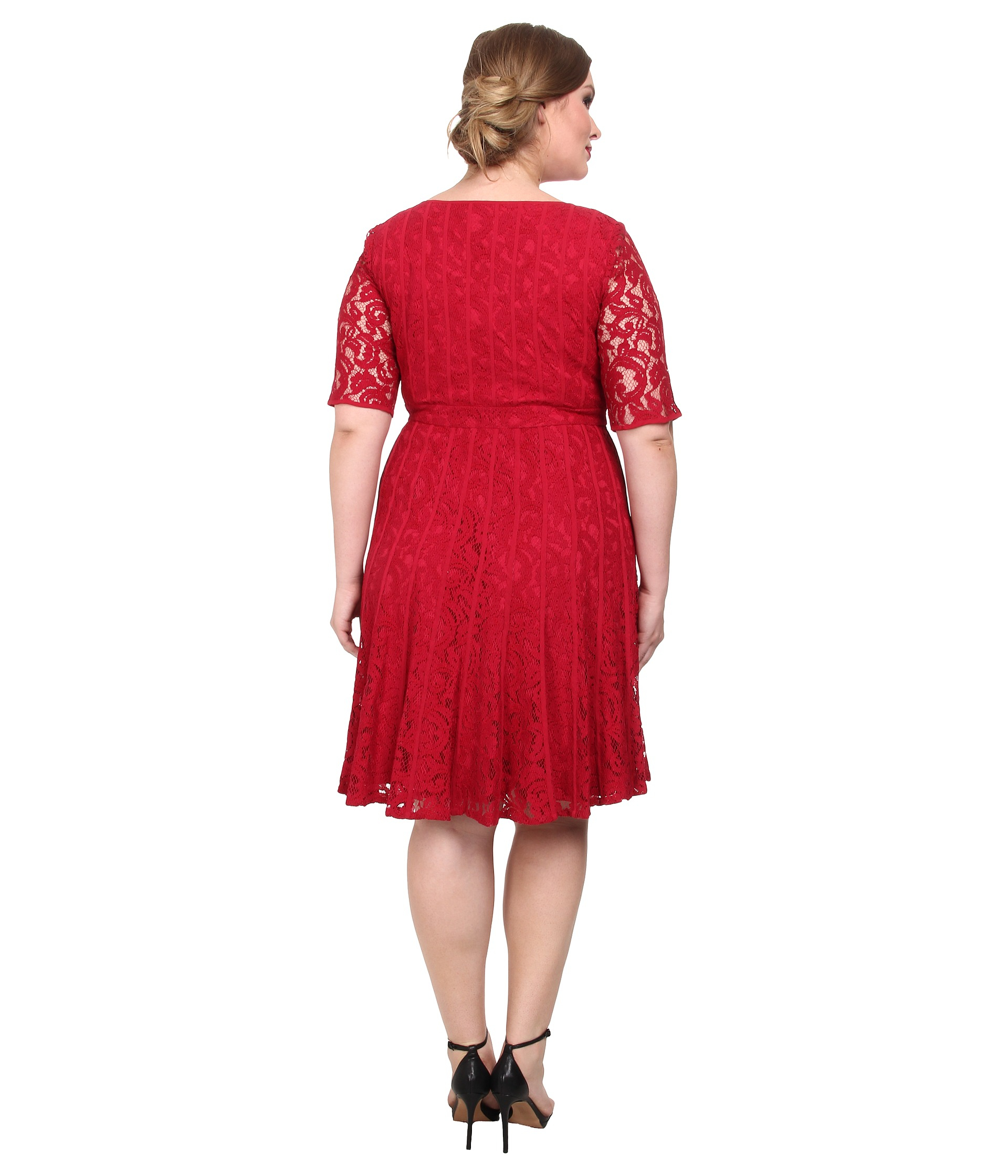 Adrianna Papell Plus Size Lace Fractured Fit Amp Flare Dress