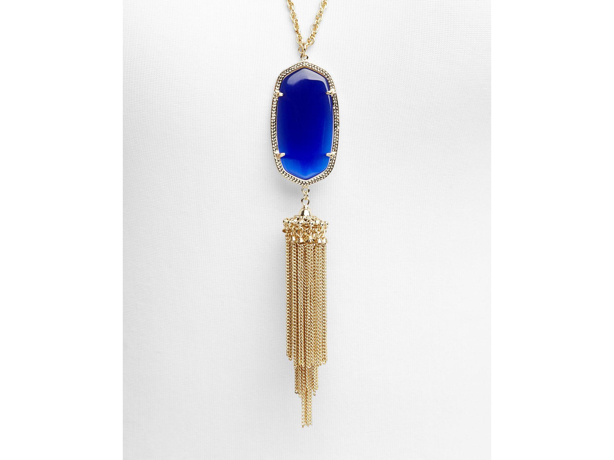 "Kendra Scott Rayne Pendant Necklace, 38"" in Blue"