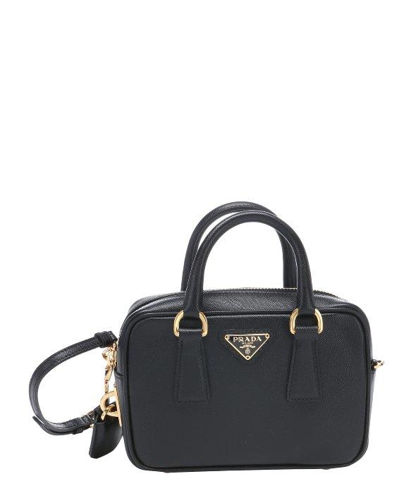 ccb2c9b1aba0 ... get prada black saffiano leather mini convertible top handle bag in  5fe3c f4068 ...