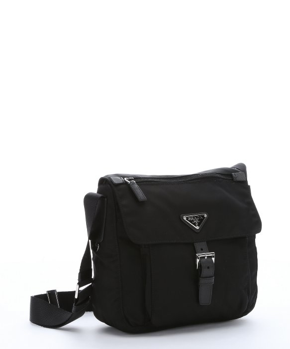 prada tote bag replica - Prada Black Nylon Small Flap Front Messenger Bag in Black for Men ...