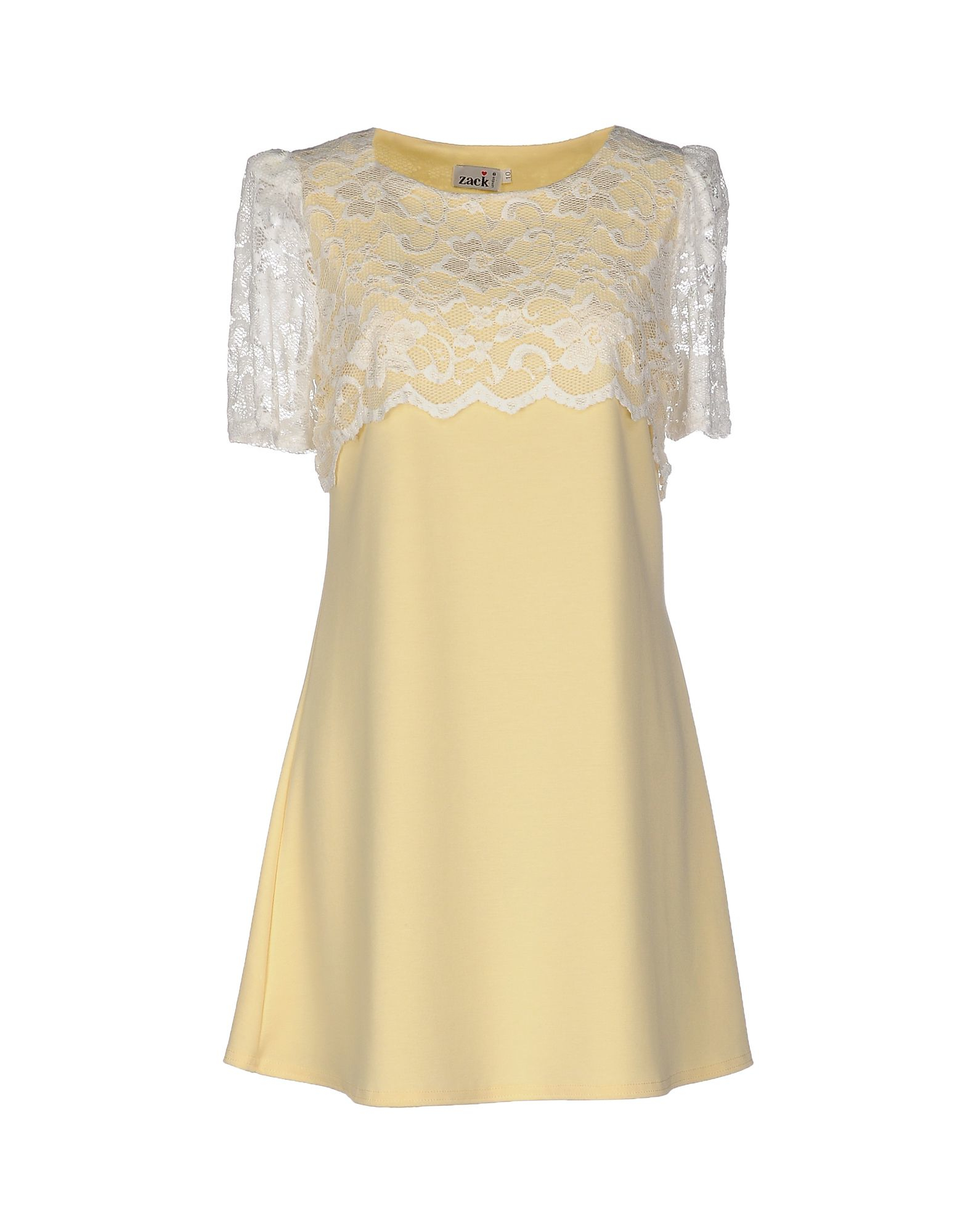Zack Short Dress in Yellow (Light yellow) - Save 28% | Lyst