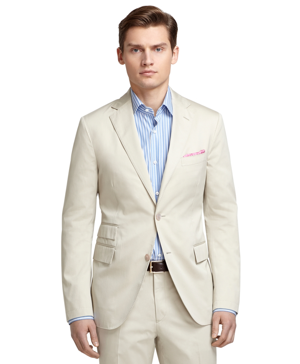 Brooks brothers Luxury Cotton Suit in Natural for Men | Lyst