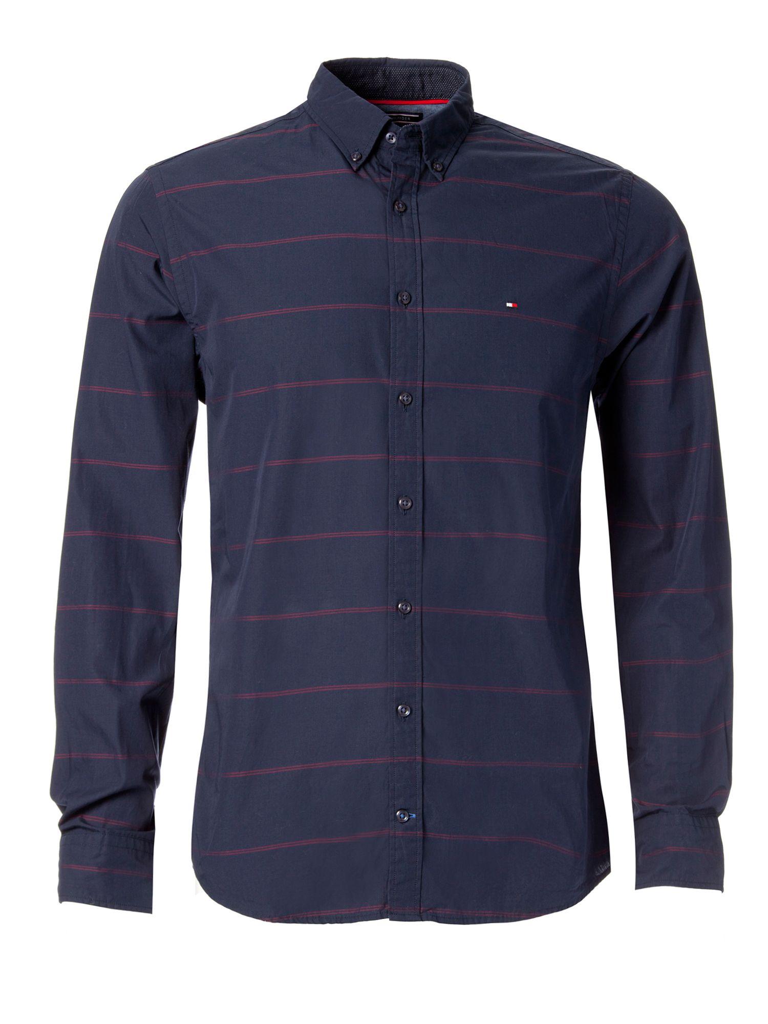 Tommy hilfiger byram stripe shirt in blue for men lyst for Tommy hilfiger fitzgerald striped shirt