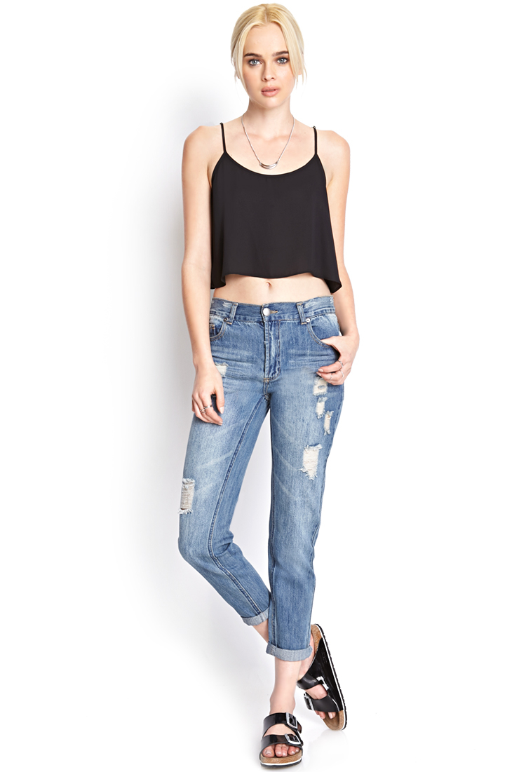 Forever 21 Sunny Daze Boyfriend Jeans In Blue Lyst