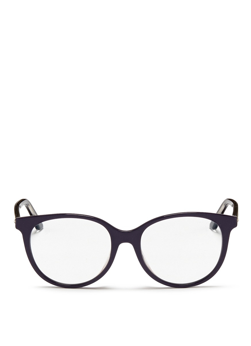 Eyeglass Frame Extenders : Dior montaigne Acetate Round Optical Glasses in Blue Lyst