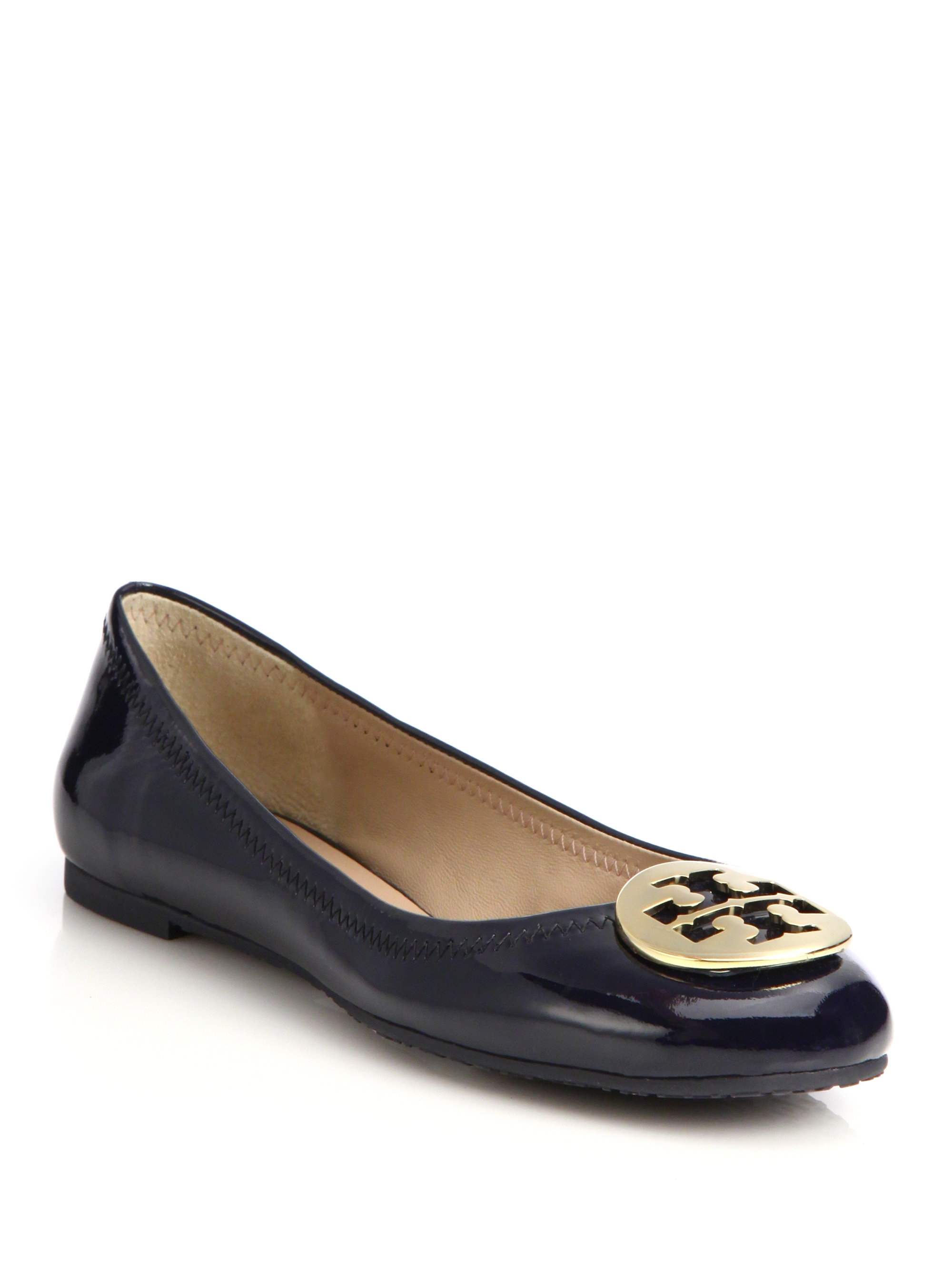 83283733a6a914 ... where can i buy lyst tory burch reva patent leather ballet flats in red  c3222 bbda8