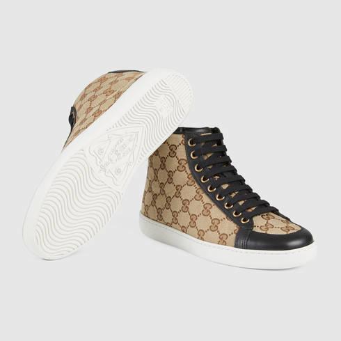 9915220dec70 Lyst - Gucci Brooklyn Original Gg High-top Sneaker in Natural for Men