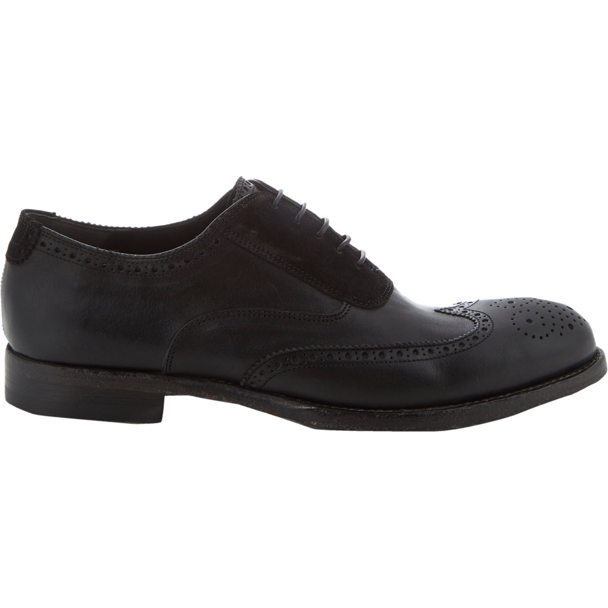 Prada White Wingtip Shoes Men