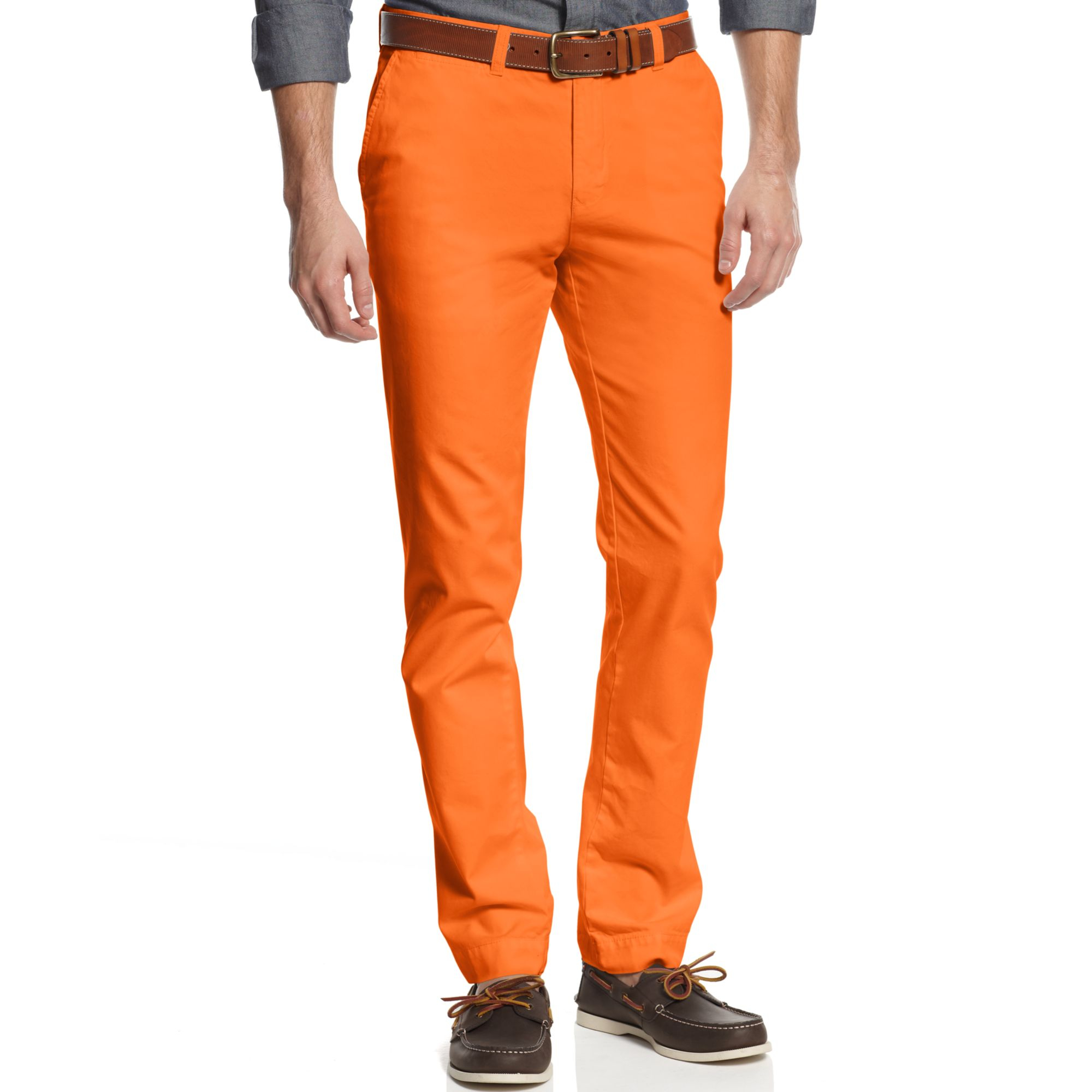 e2978620b Tommy Hilfiger Slim Fit Graduate Chino Pants in Orange for Men - Lyst