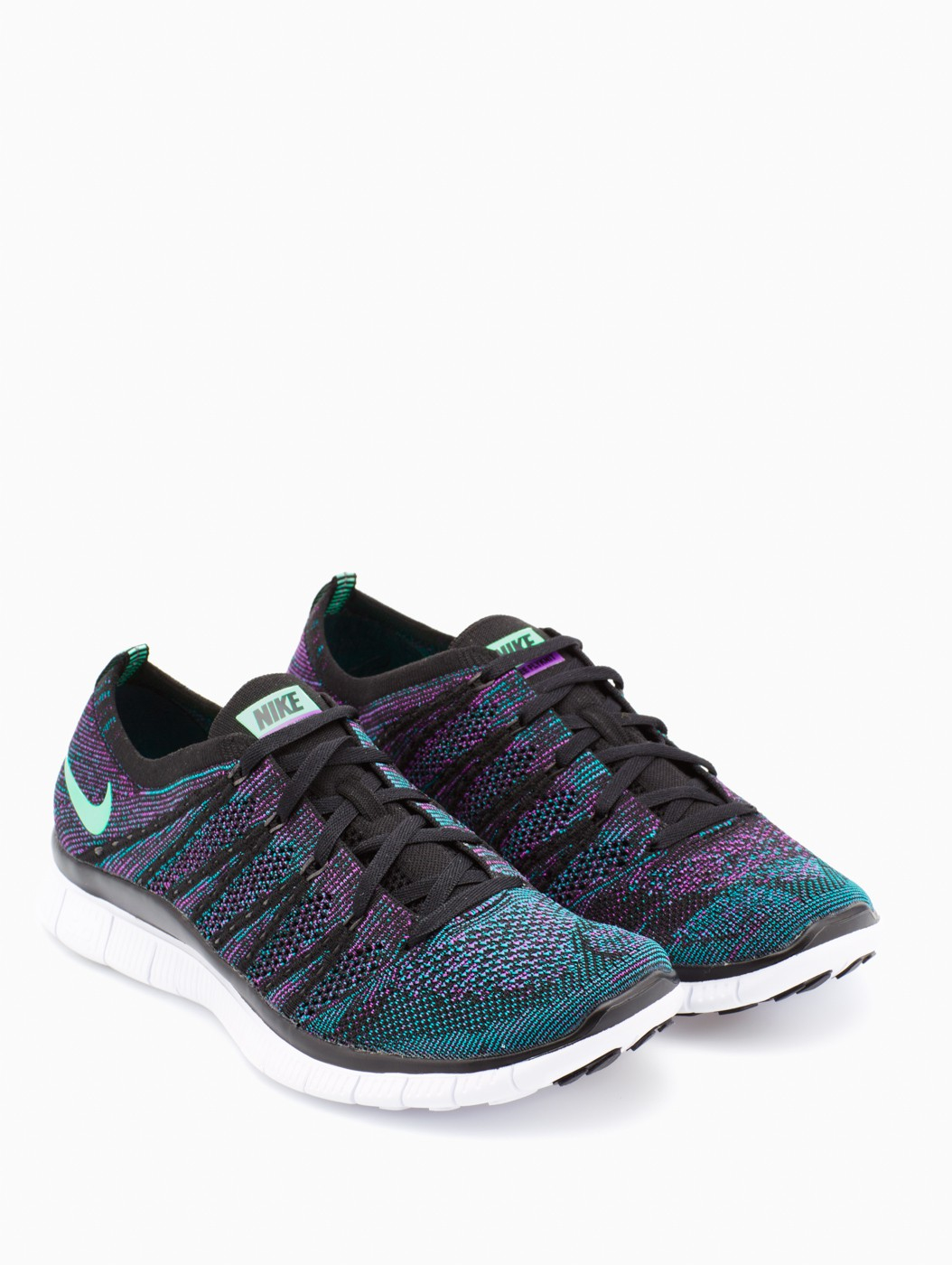 nike free flyknit nsw in blue for men lyst. Black Bedroom Furniture Sets. Home Design Ideas