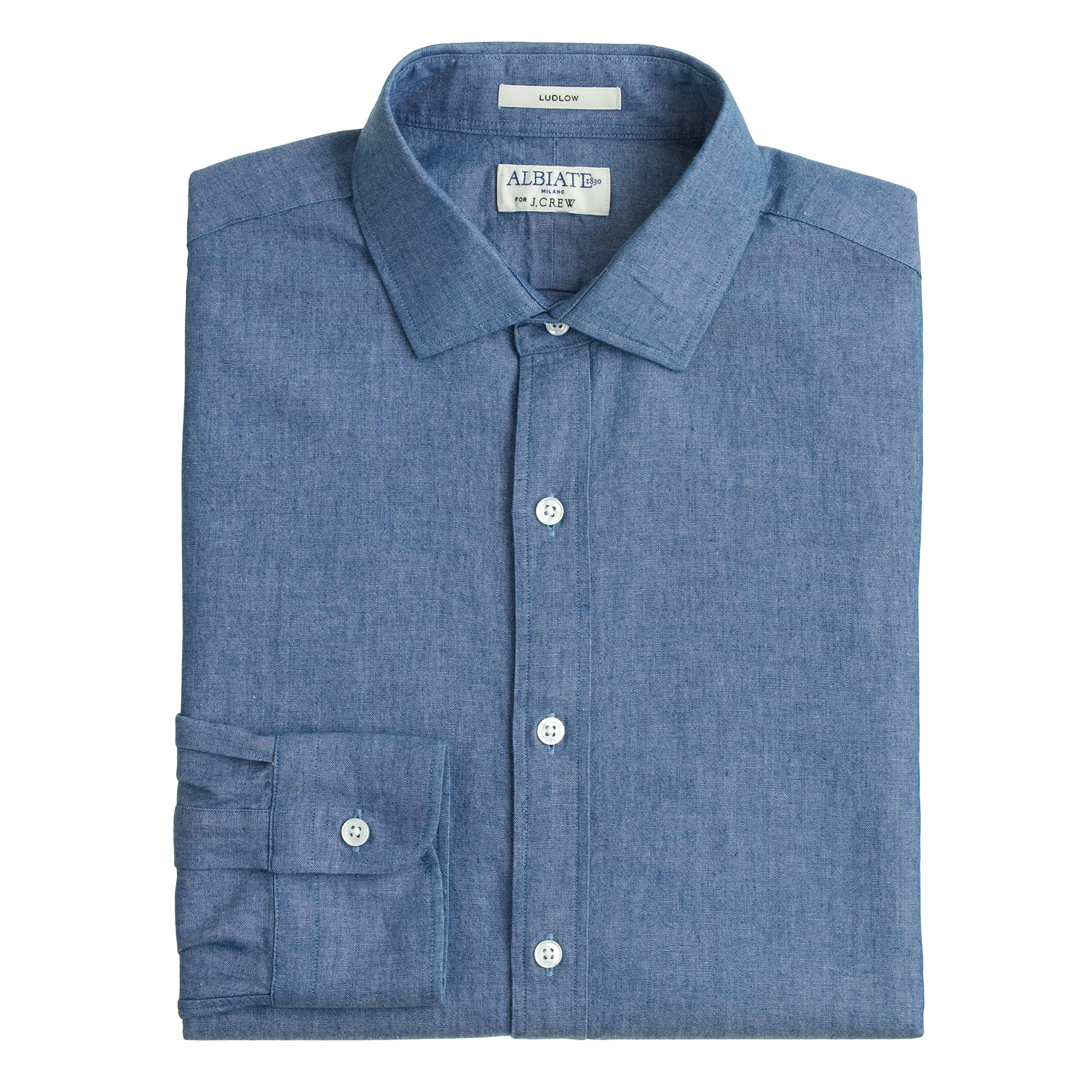 Albiate 1830 ludlow spread collar shirt in italian for Men s spread collar shirts