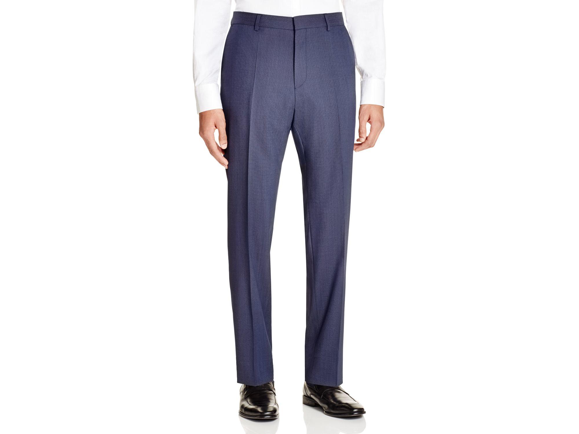 boss hugo pindot hamen slim fit trousers in floral for men. Black Bedroom Furniture Sets. Home Design Ideas