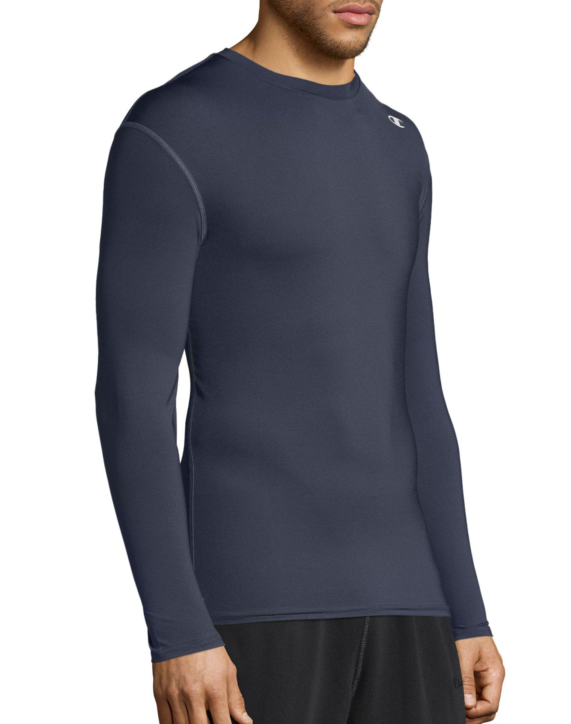 ee717e6fd Champion - Gray Double Dry® Long-sleeve Compression T Shirt for Men - Lyst.  View fullscreen