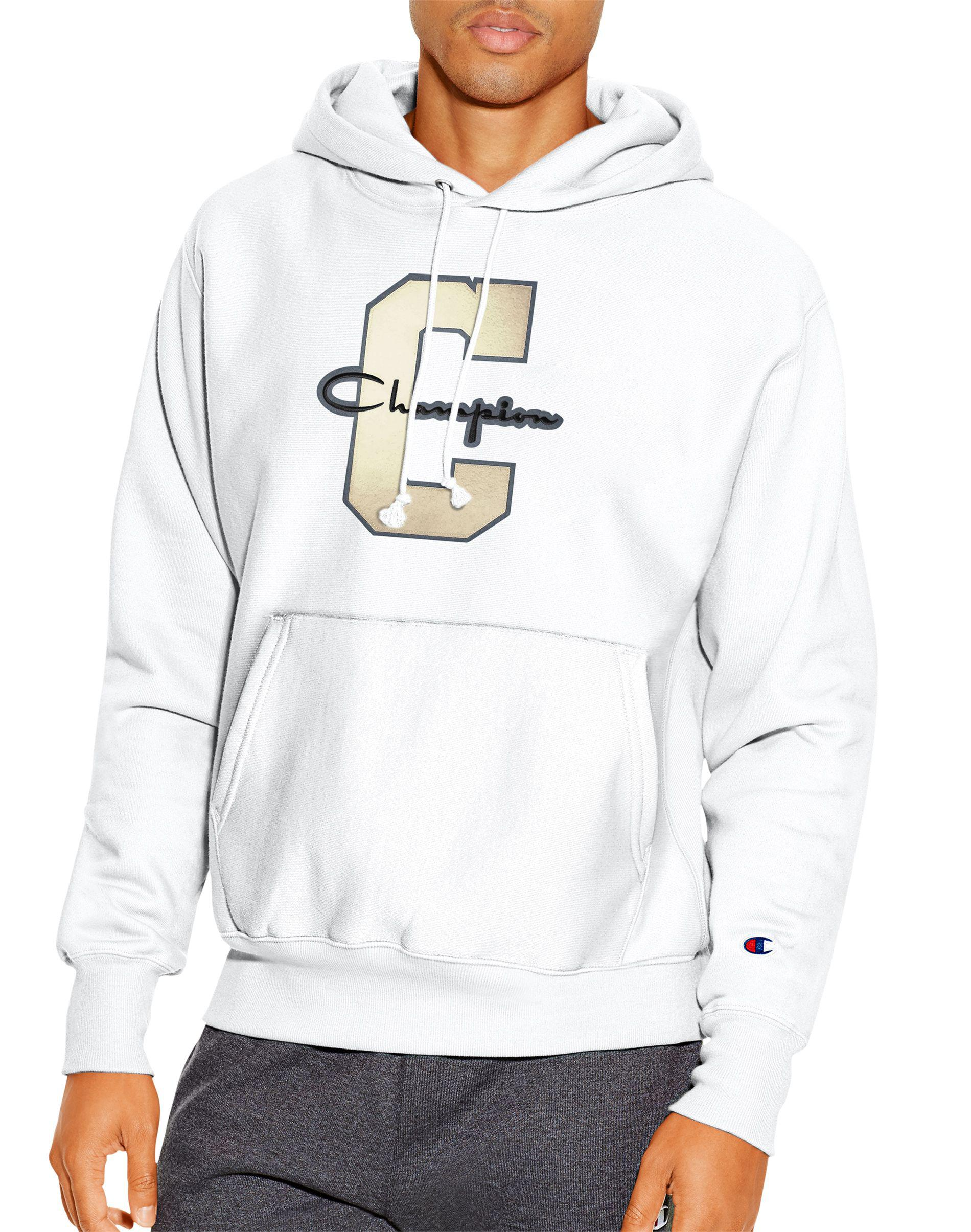 fad1df37c Champion White Life® Reverse Weave® Pullover Hoodie, Varsity C Logo for men