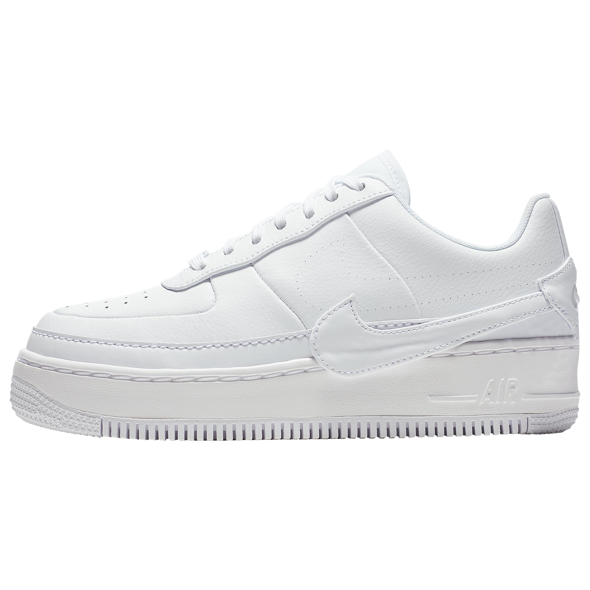 Nike Leather Womens Air Force 1 Jester in White/White (White) - Lyst