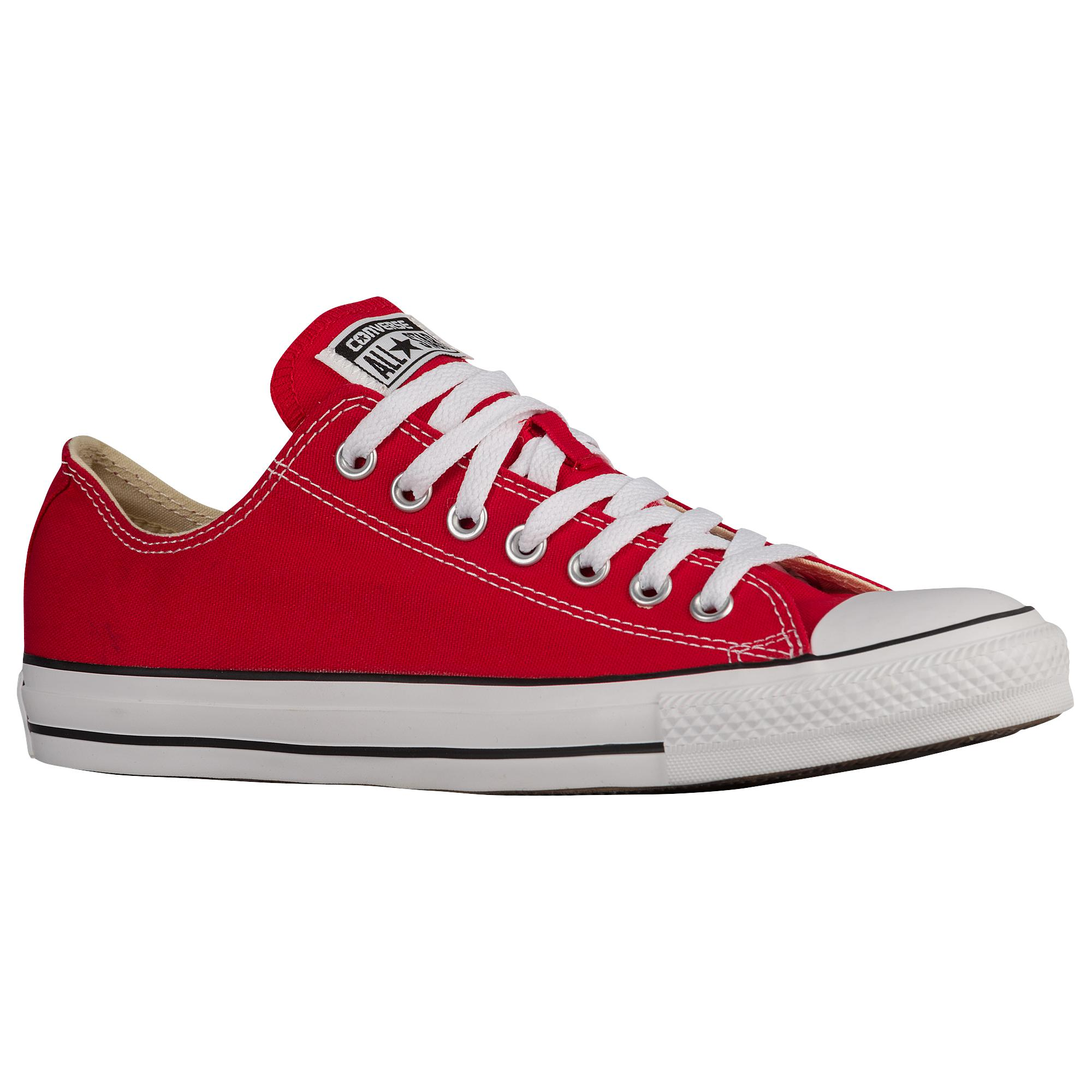 Unisex Flat All Star Lace Up Plimsolls Summer Shoes Red PU