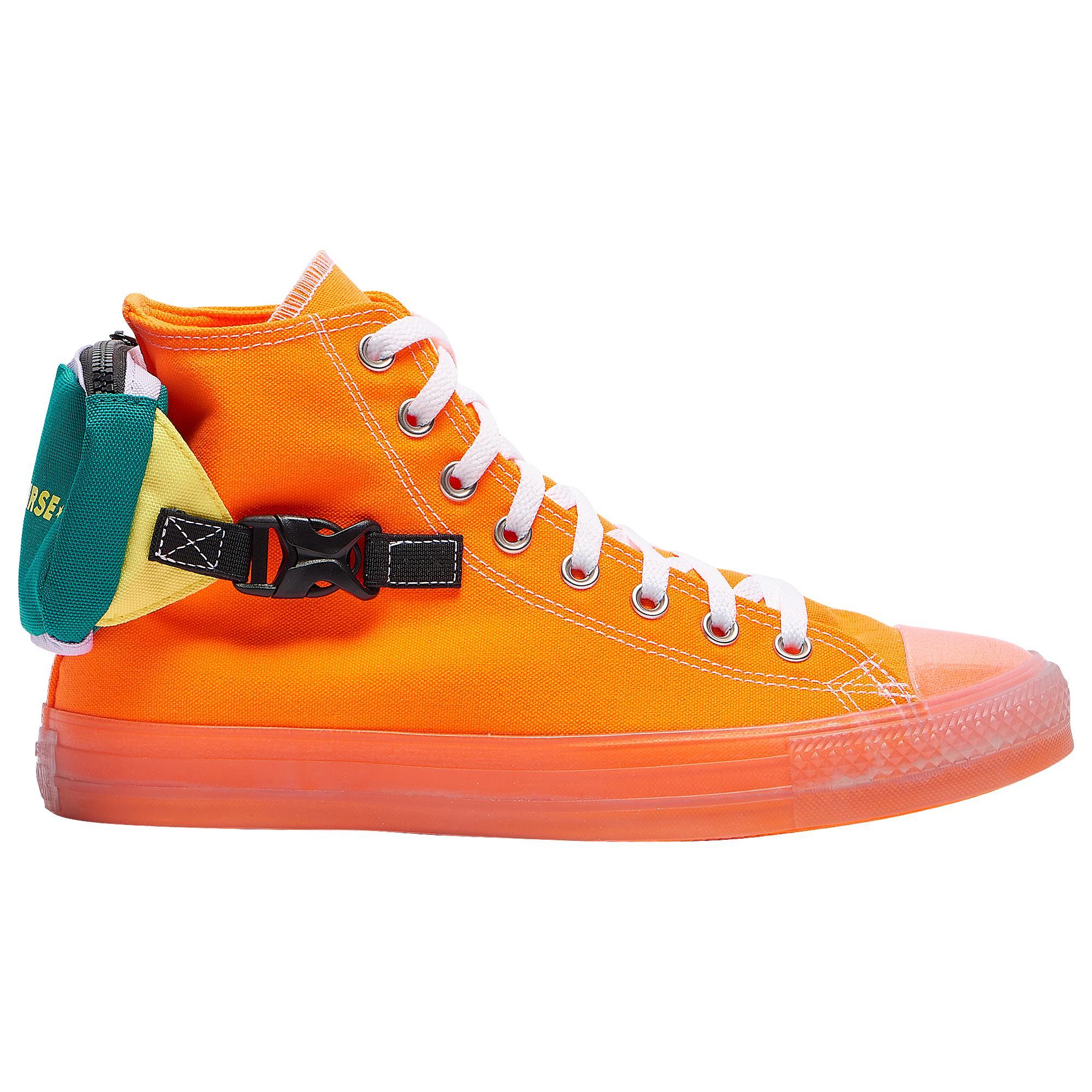 Converse Canvas Ctas Buckle Up Hi - Shoes in Orange/Silver (Orange ...