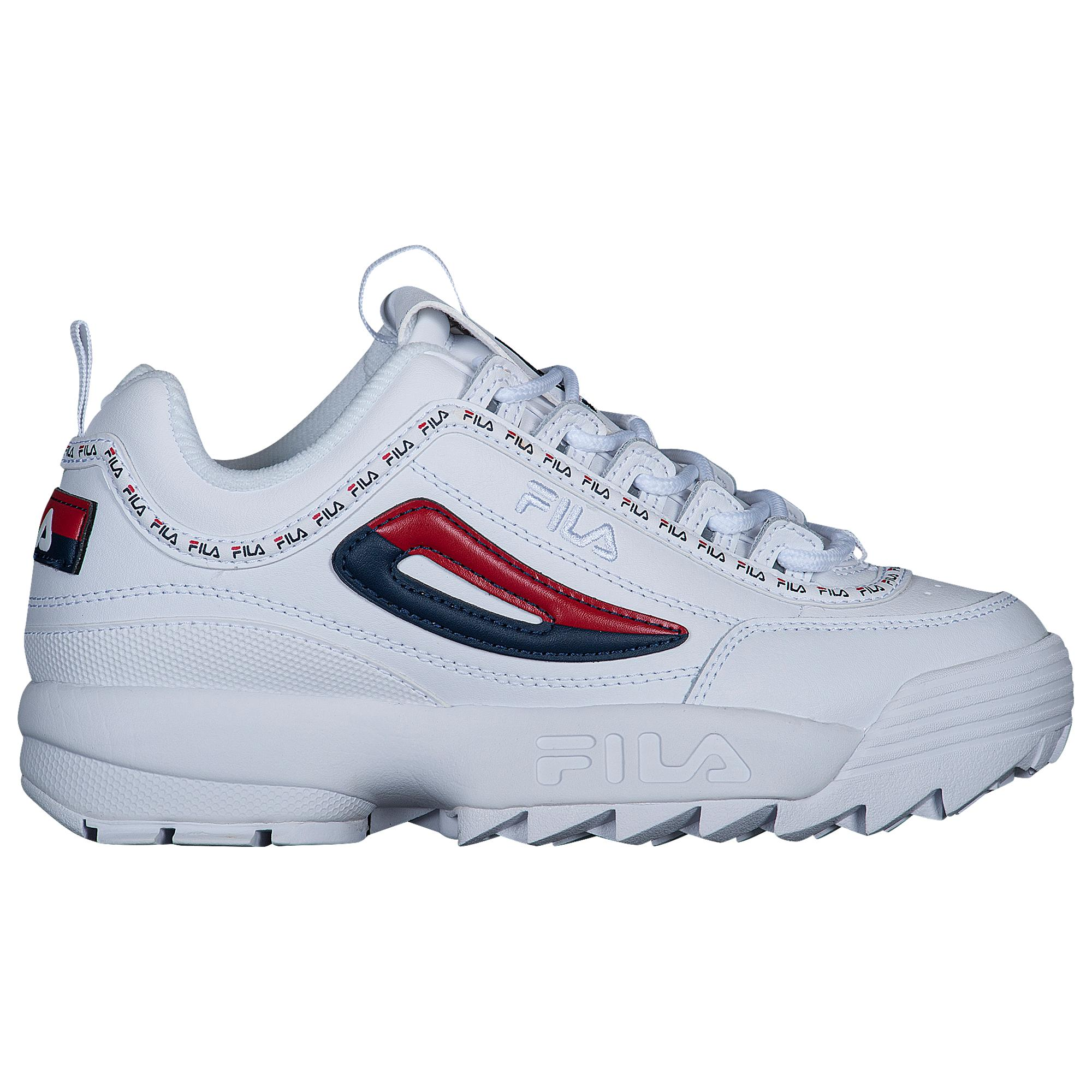 Fila White Womens Disruptor Ii Premium Repeat