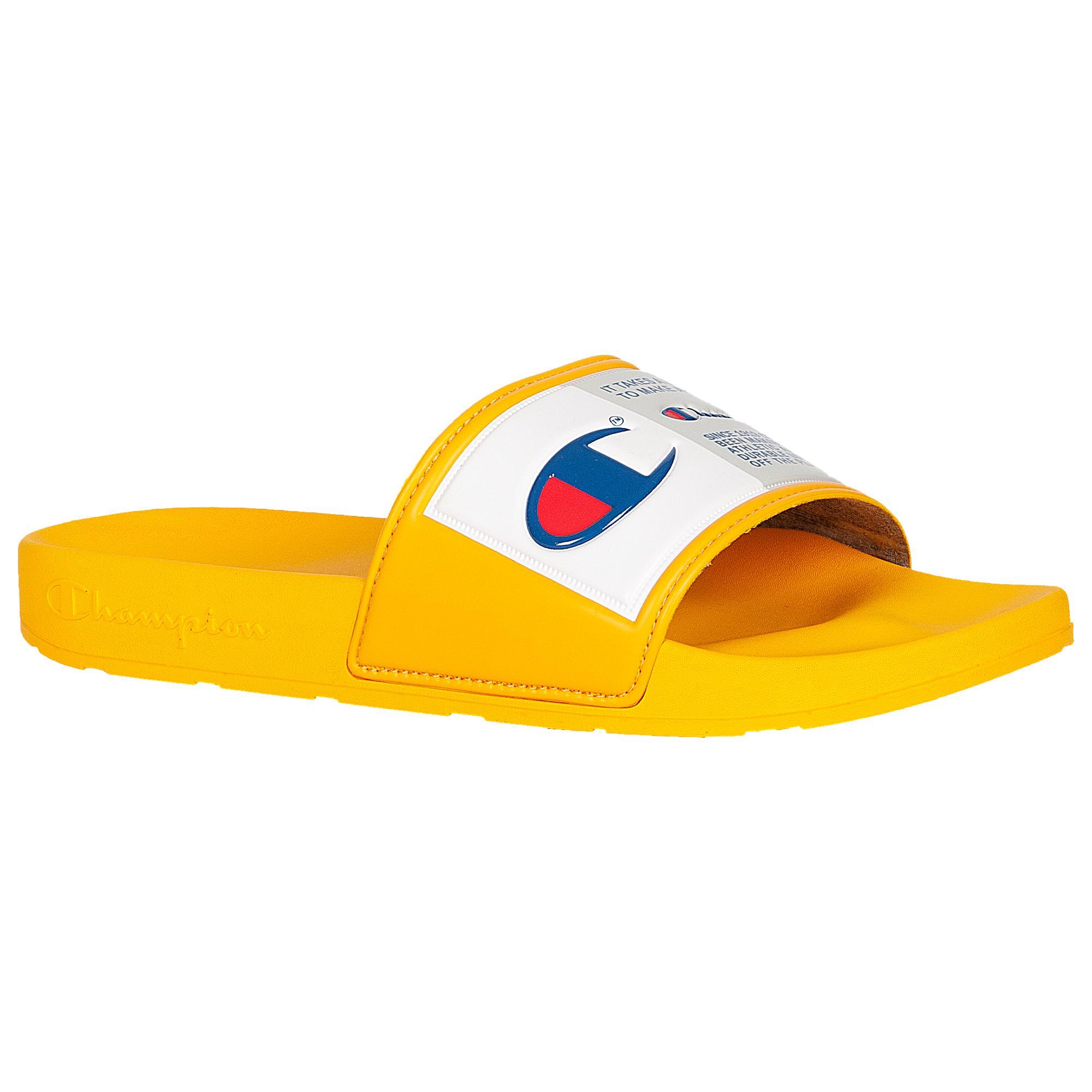 Champion Ipo Jock Slides in Gold/White