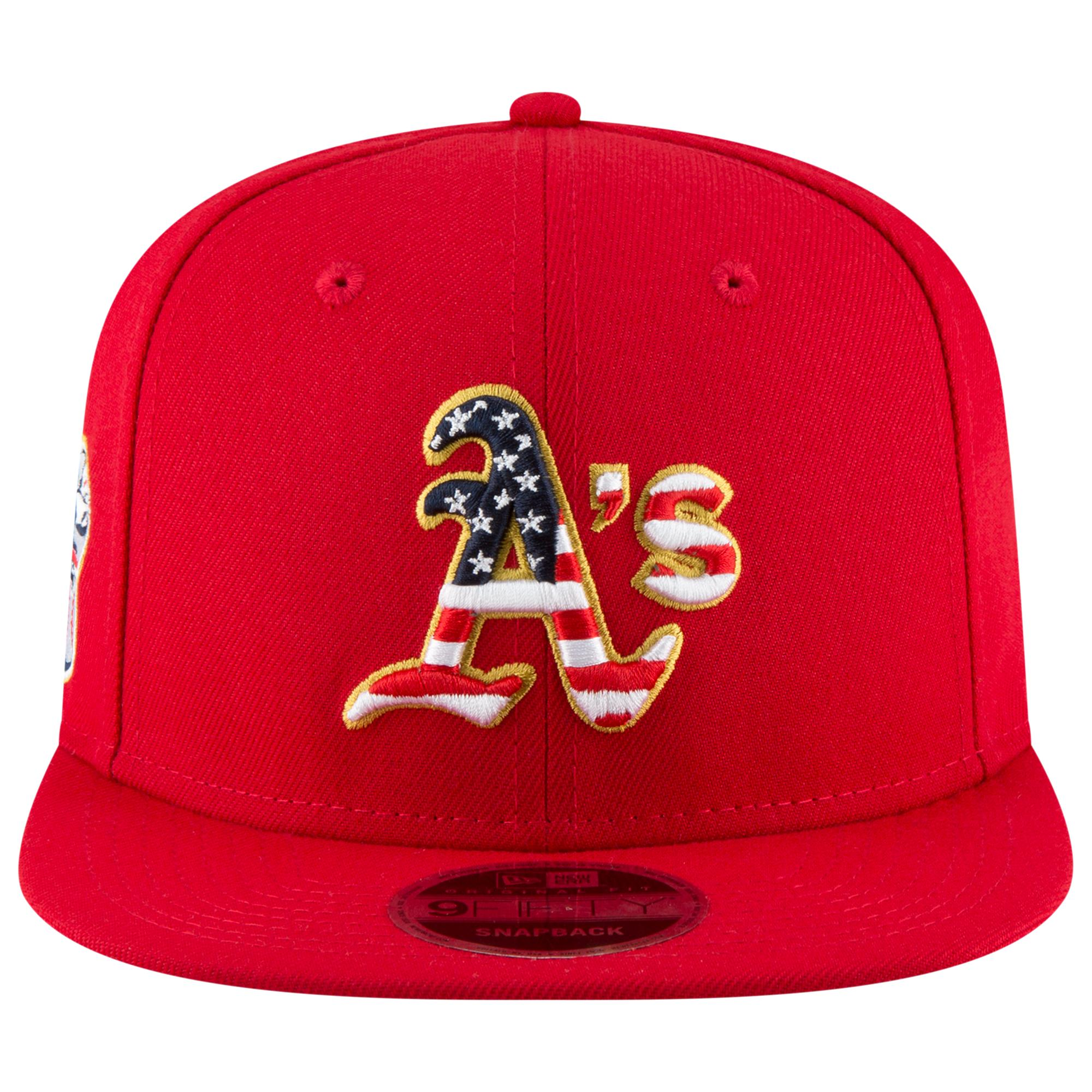 uk availability f6cb7 43705 KTZ - Red Oakland Athletics Mlb Stars And Stripes Snapback Cap for Men -  Lyst. View fullscreen