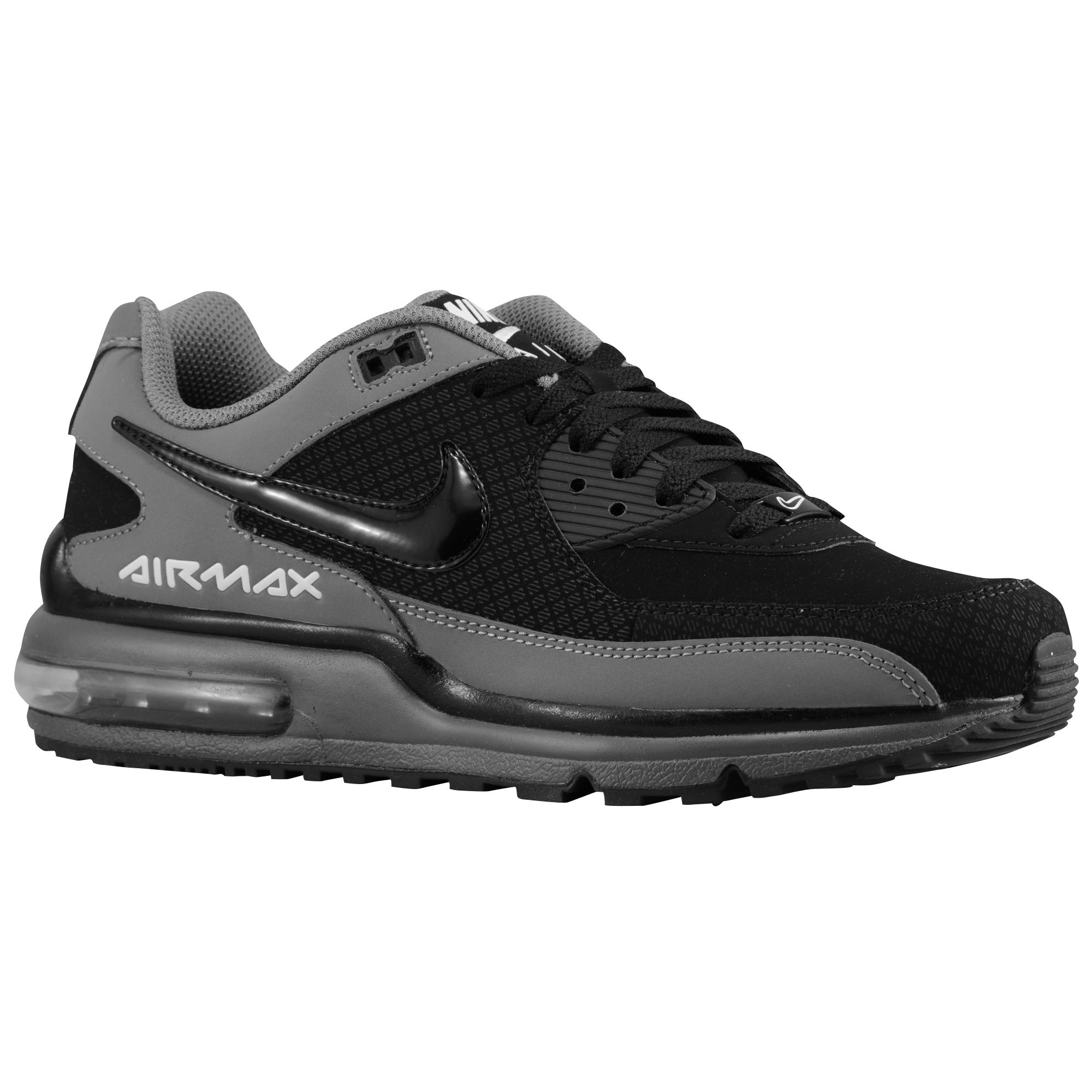 Nike Leather Air Max Wright in Black/Black/Cool Grey/White (Black ...