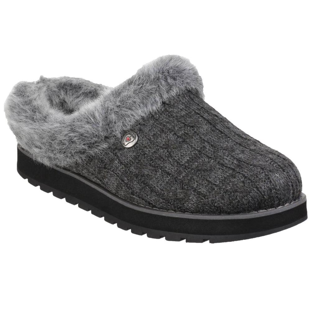 Skechers. Gray Keepsakes Ice Angel Womens Mule Slippers
