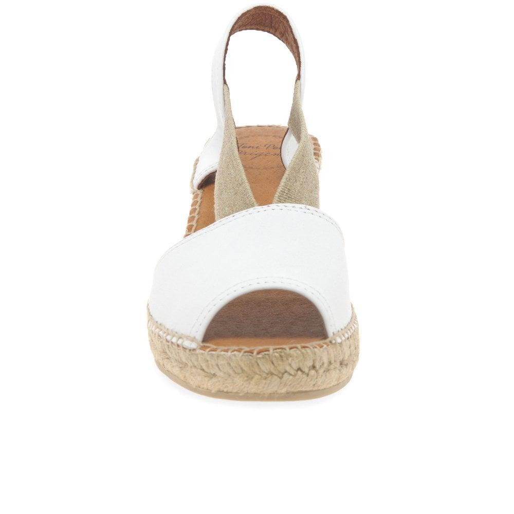 e76794034e8fa Teide P Womens Wedge Heel Espadrilles Women's Espadrilles / Casual Shoes In  White