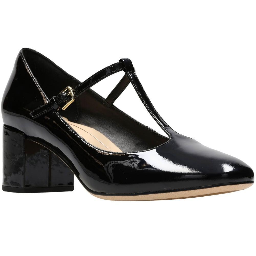 T Bar Block Heel Shoes