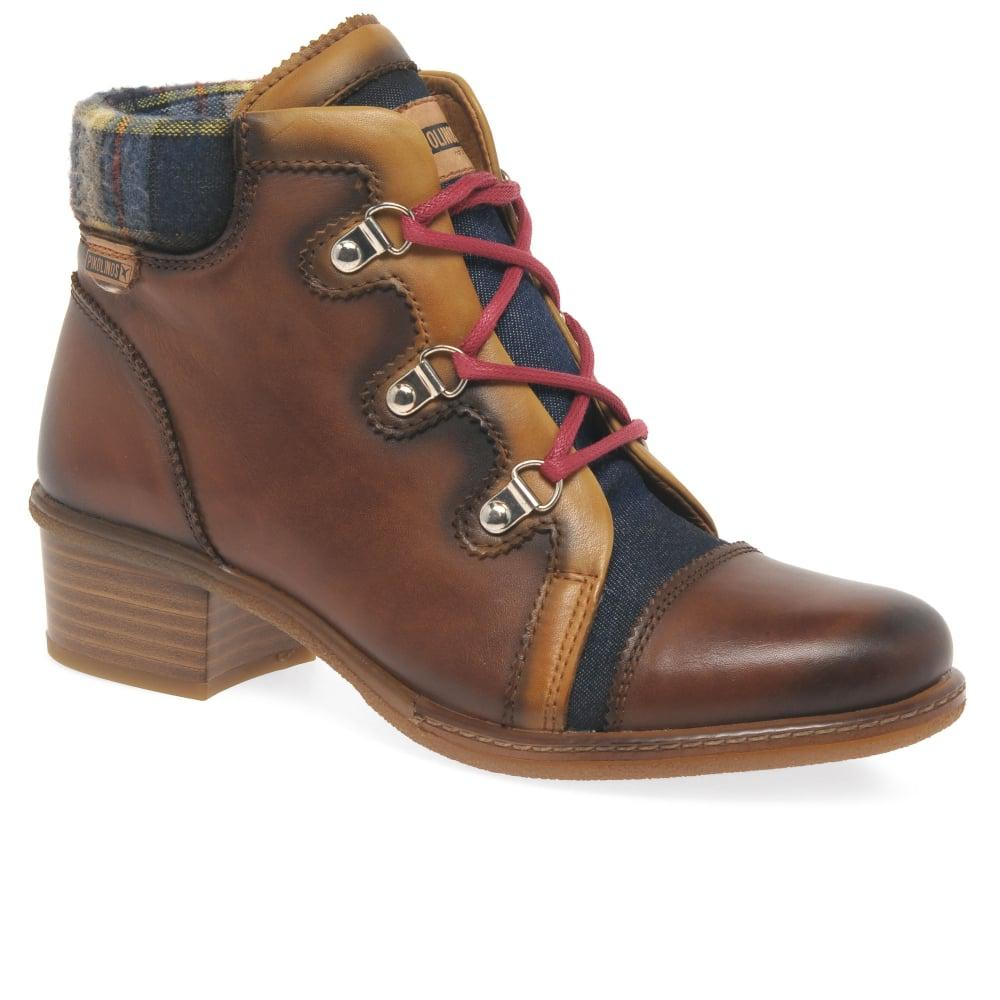 Pikolinos Zaragoza Womens Ankle Boots in Brown